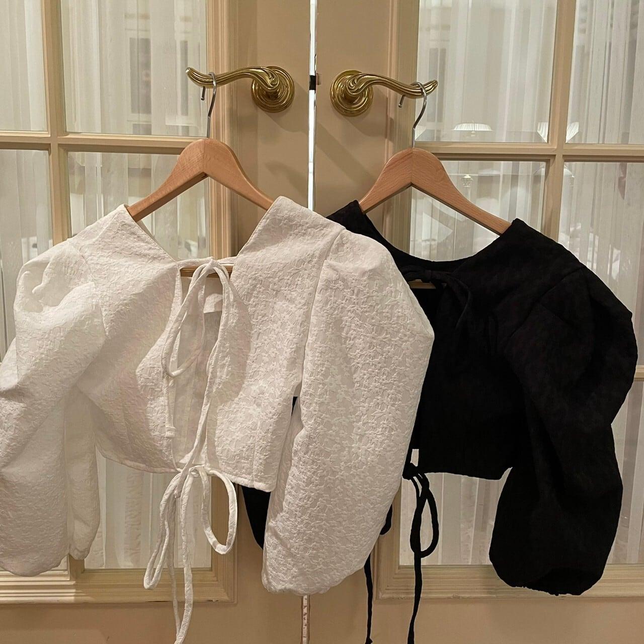 【Belle】LAST1 mini flower blouse / black