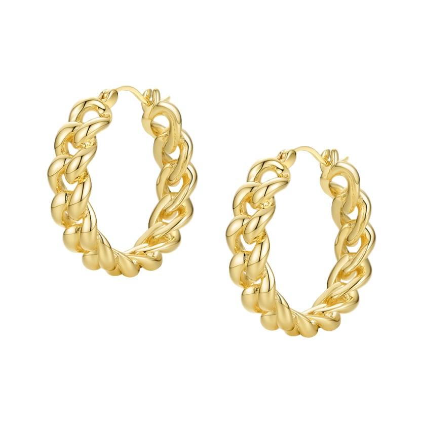 Chain hoop pierce ピアス