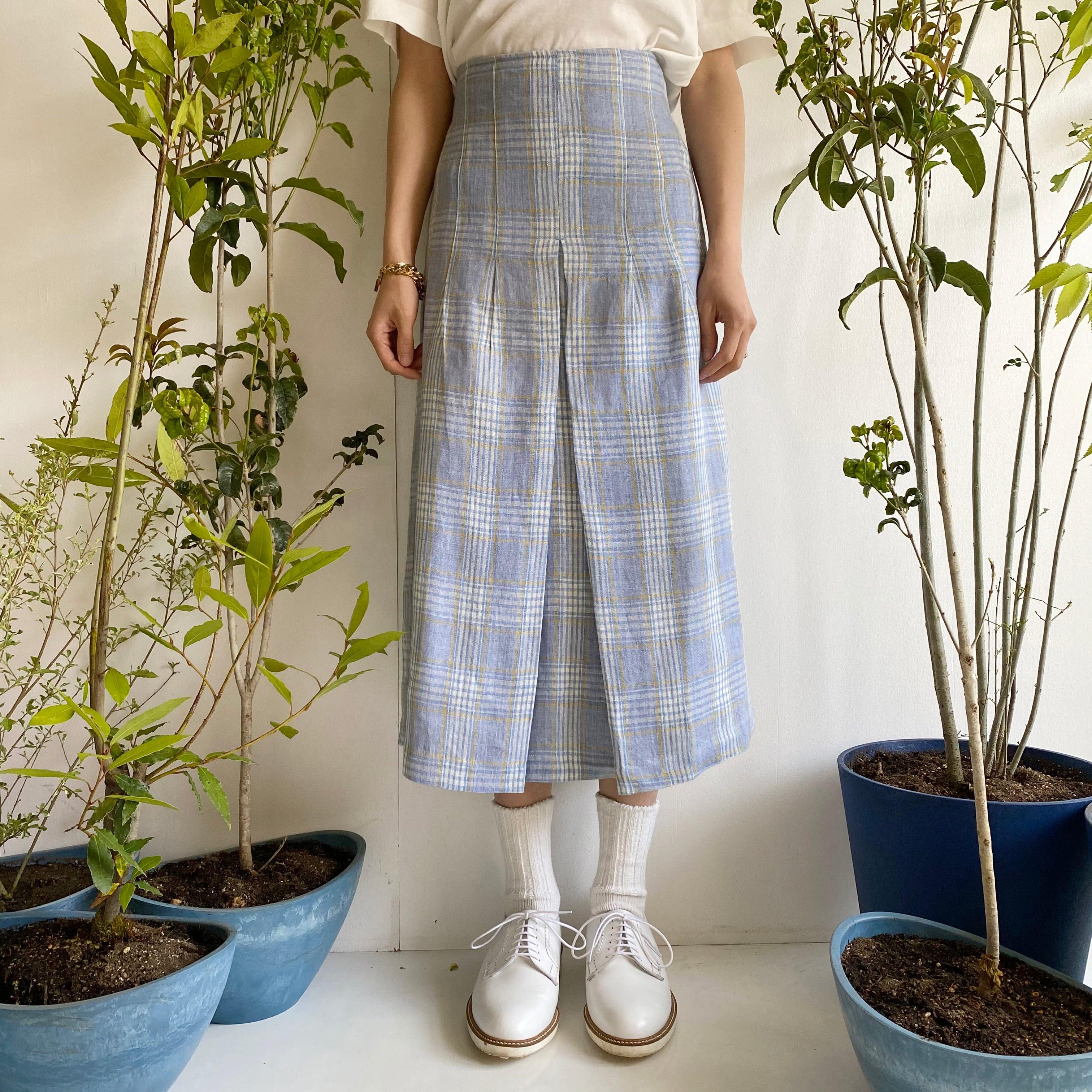 "Tight Skirt ""blue & yellow check"""