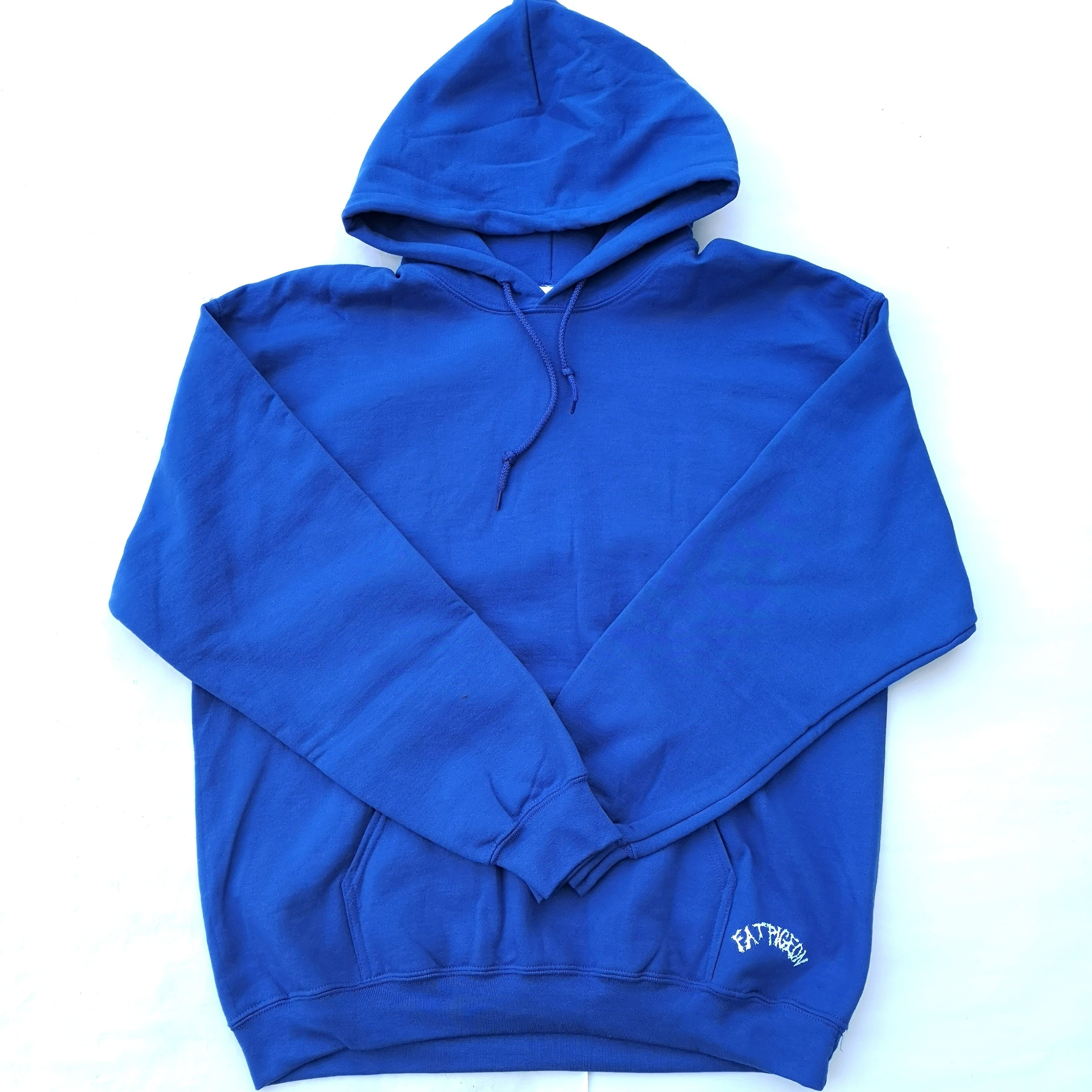 FAT PIGEON RECORDS HOODIE BLUE L