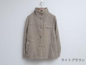 ミックスツイードのスタンドジャケット