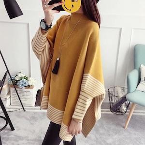 プルオーバー カジュアルニットセーター