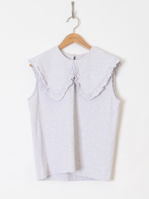 【HOLIDAY】SUPER FINE DRY PURITAN COLLAR BLOUSE