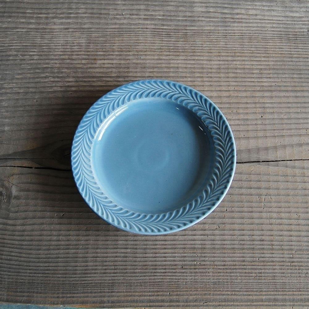感器工房 波佐見焼 翔芳窯 ローズマリー リムプレート 皿 約18cm ペイルグレー 332716