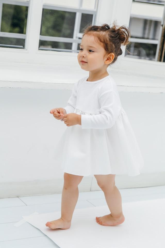 BALLERINA LONG T-DRESS WHITE 【再販】
