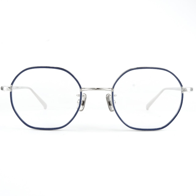 one/three compound frame ワンスリー メガネ cfa-07/60s シルバー/ブルー