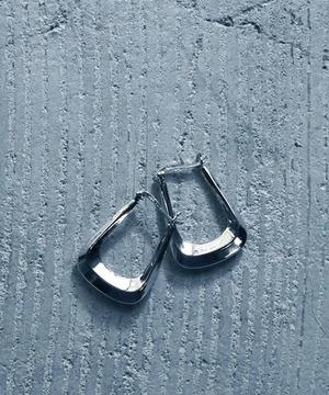 YJE11010211【YArKA/ヤーカ】silver925 rectangle hoop pierce/角フープピアス シルバー925