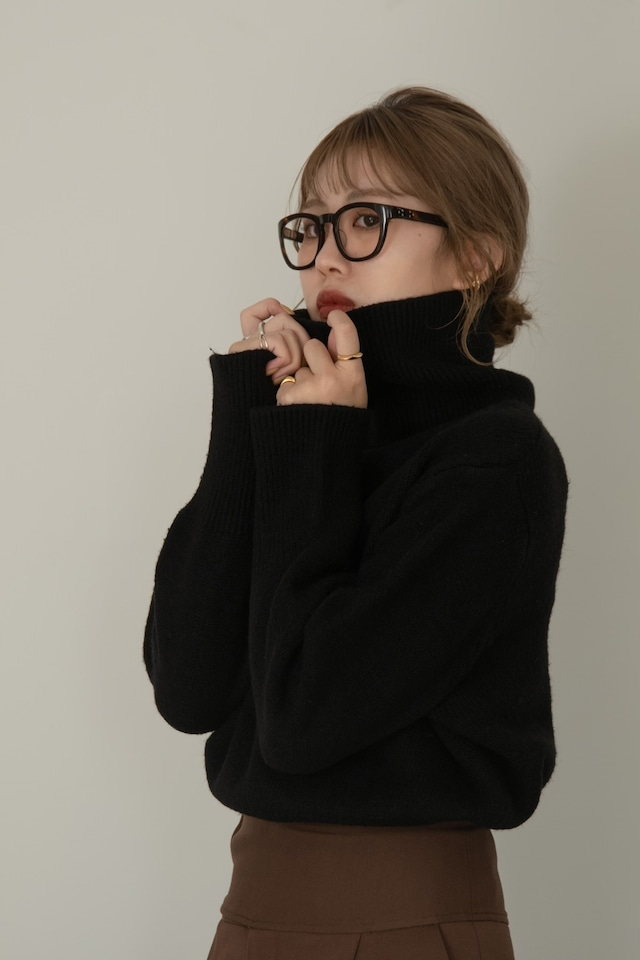 high neck chewy knit