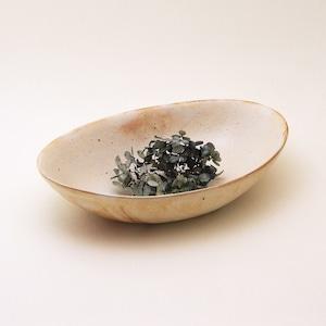 鉄散 楕円深鉢 カレー皿 古谷製陶所 信楽焼