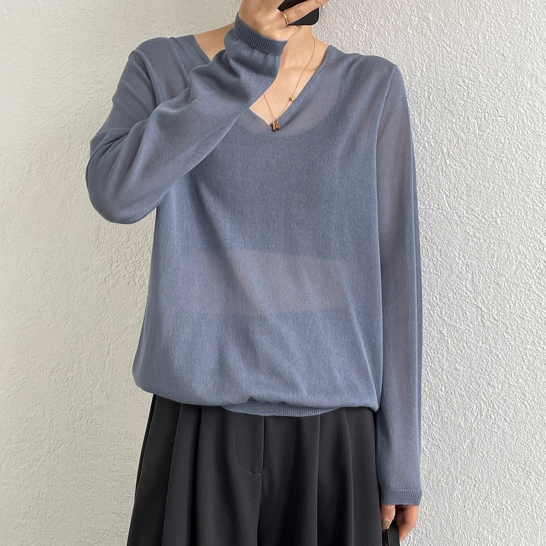 Ice silk sheer knit(アイスシルクシアーニット)b-210