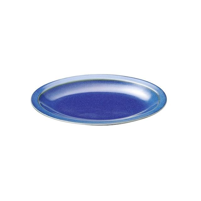 aito製作所 「群青 Gunjo」オーバル プレート 大皿 約26×19cm ネイビー 美濃焼 288011