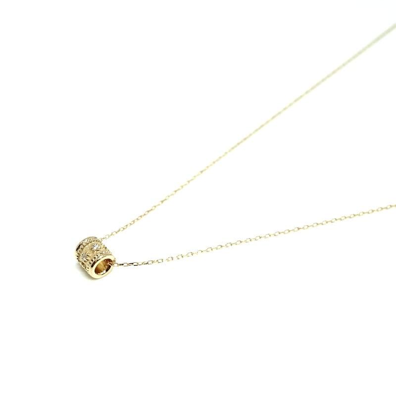 Granulation pipe Necklace Dia - K18YG