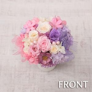 Petite Fleur(プチ・フルール)◆アレンジメント/かわいい/スウィート/ミックスカラー/ピンク&ホワイト&パープル【※北海道と沖縄県・離島へのお届け不可】