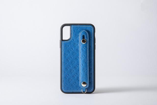 【牛革】高知のiPhoneケース ブルー(7/8/SE第2世代、X/XS)
