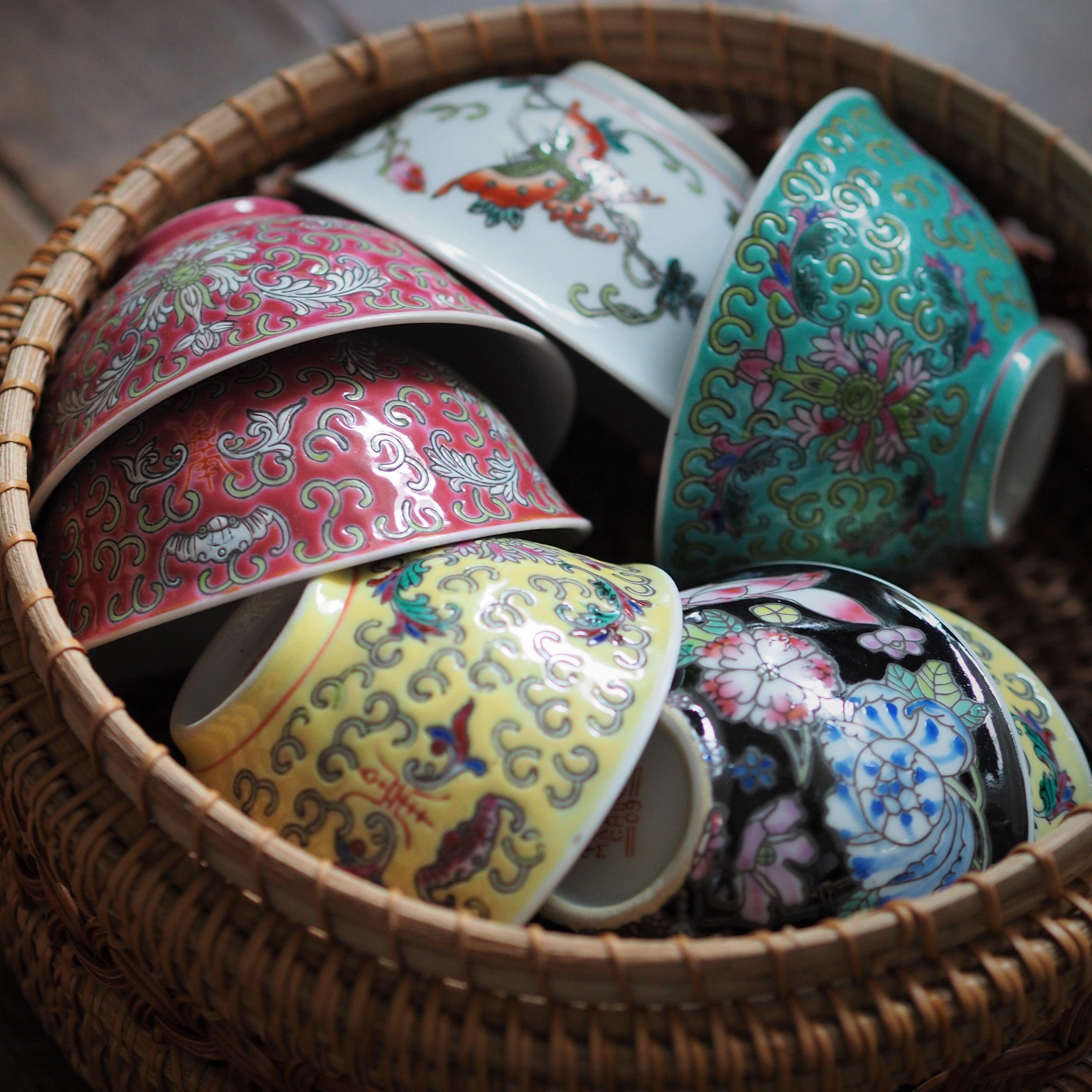 色とりどり『ちいさいお茶碗―5種―』景徳鎮