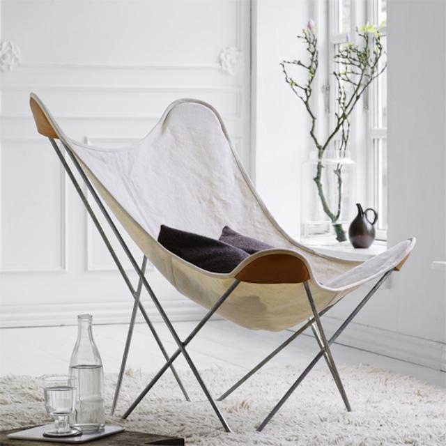 BKF Chair バタフライチェア キャンバス ホワイト[ cuero ]