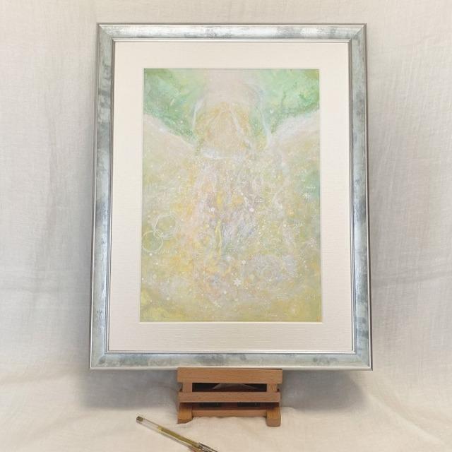 白の女神 アクリル絵画 風水画 原画