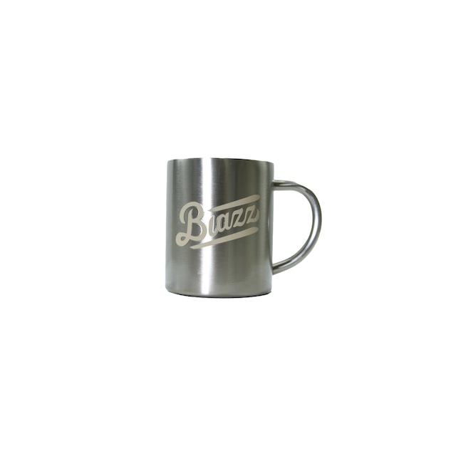 LOGO Stainless Mug 330ml [ SILVER x GOLD ]