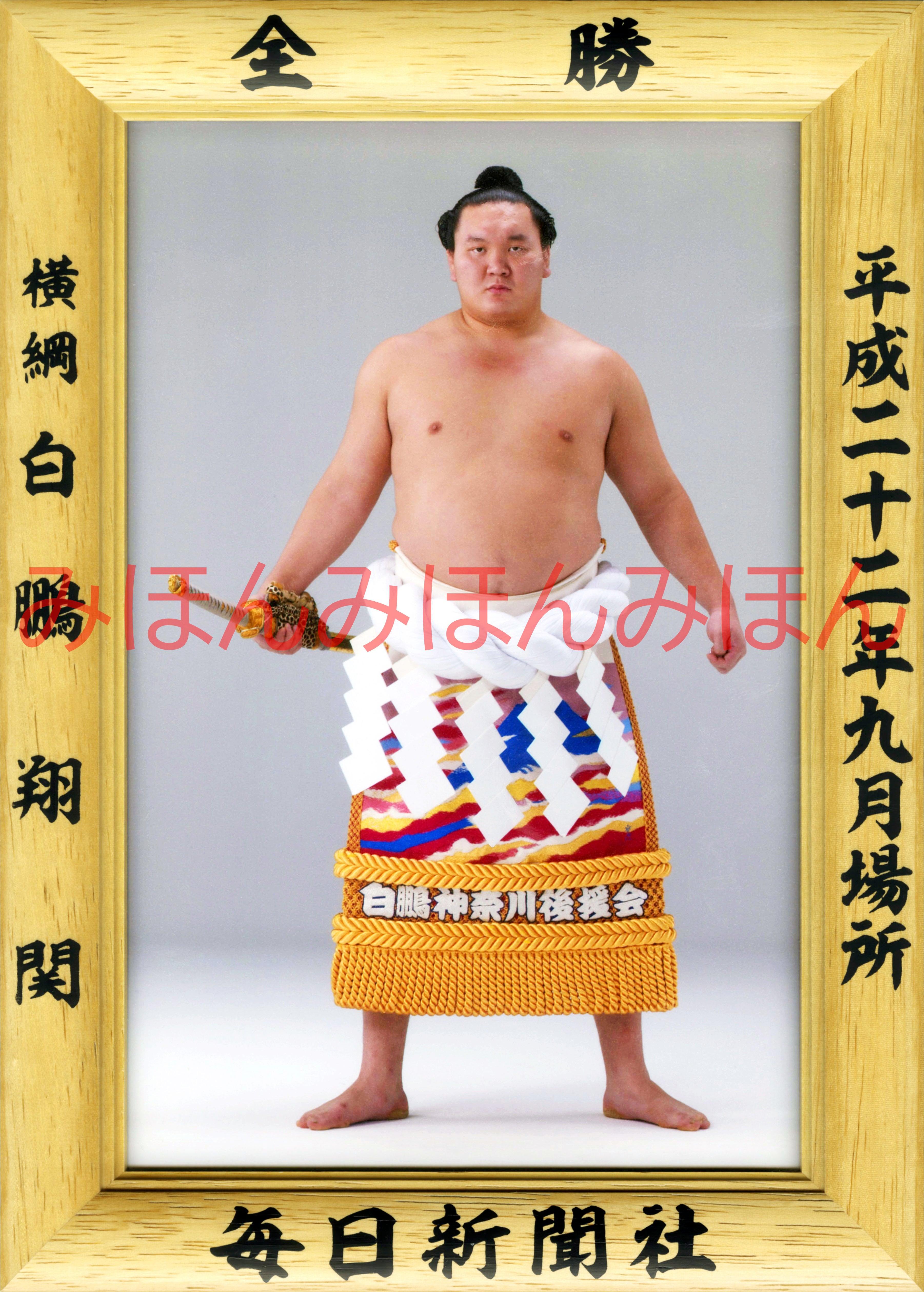 平成22年9月場所全勝 横綱 白鵬翔関(16回目の優勝)
