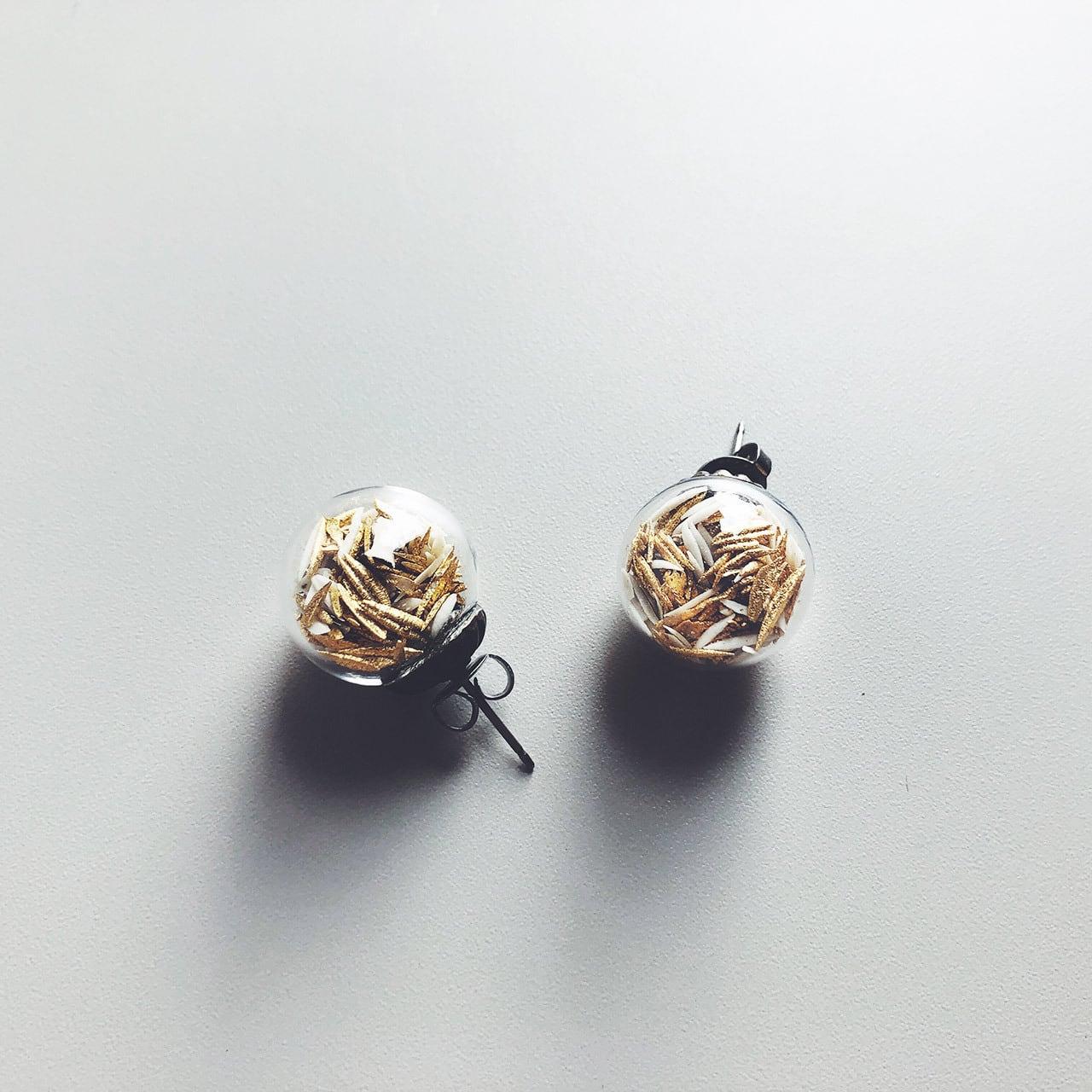 時の雫 / スタッドピアス ゴールド