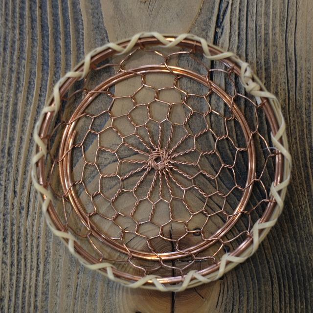 辻和金網 手編み銅製コースター