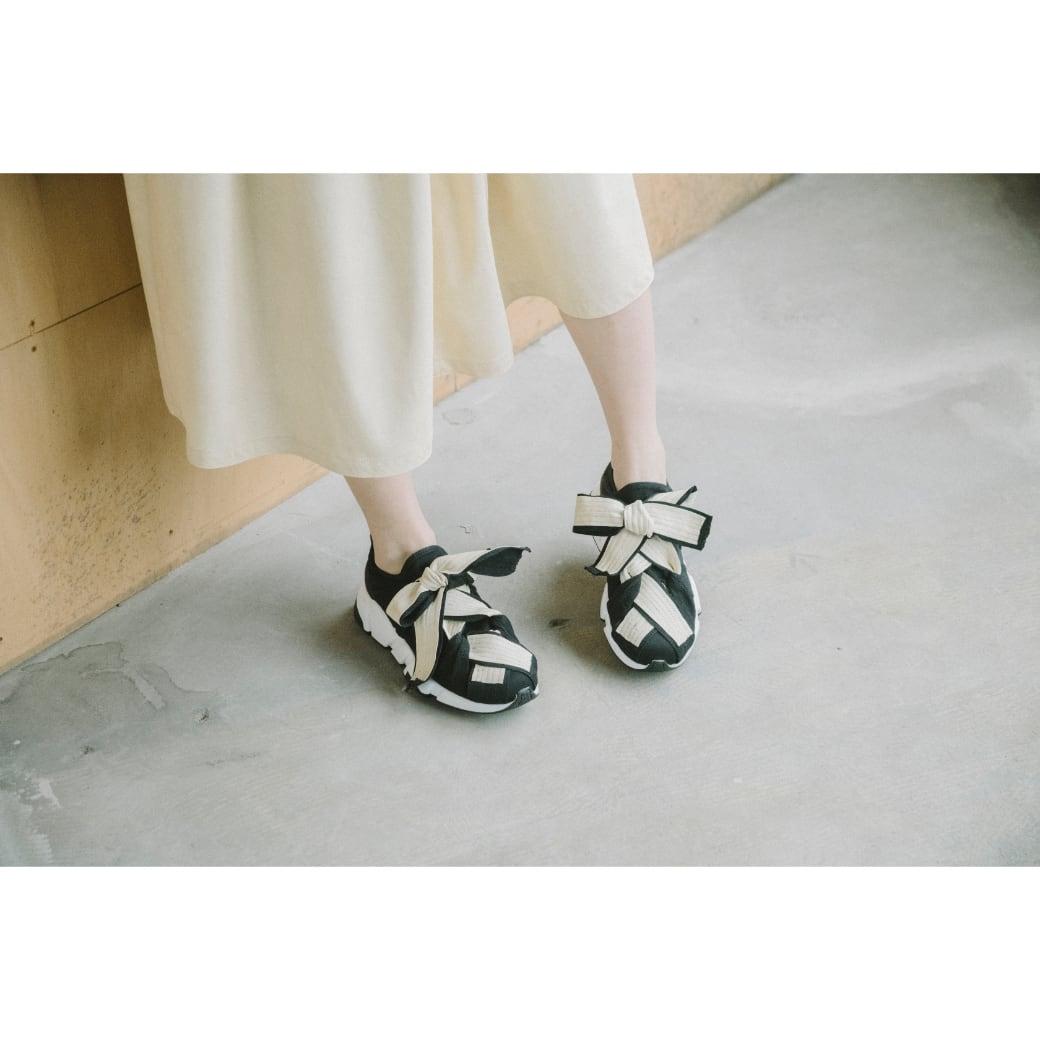 【RehersalL】fake leather sneaker(ivory) /【リハーズオール】フェイクレザー スニーカー(アイボリー)