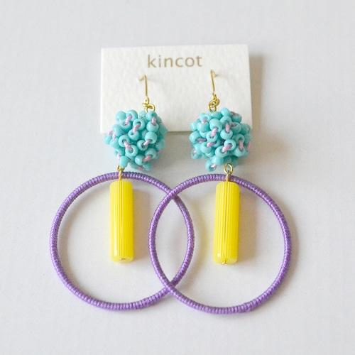 kincot サーカスピアス(ライトブルー×ライトパープル)