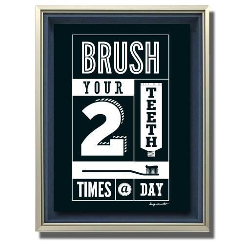 Brush キャンバスプリント(B2サイズ)・立体額入り
