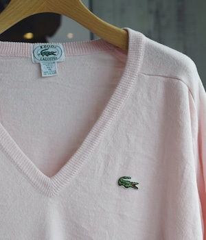 VINTAGE 80s LACOSTE ACRYLIC KNIT -MADE in USA-