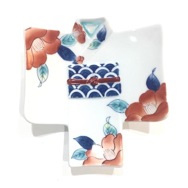 椿絵  着物銘々皿