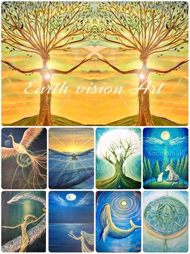 ソラノモリSayuRi  Earth vision Art 制作依頼  F4 サイズ