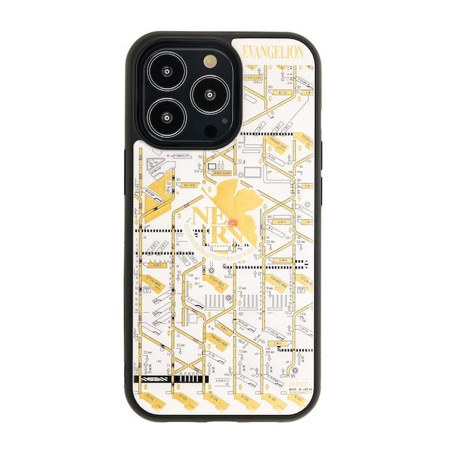 FLASH NERV 基板アート iPhone 13 Proケース 白【東京回路線図A5クリアファイルをプレゼント】