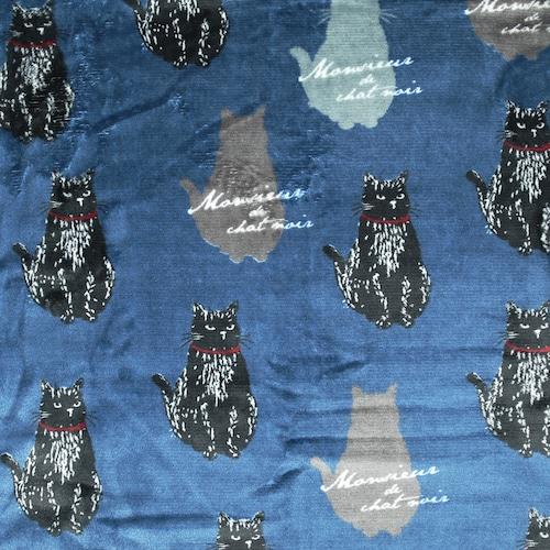 猫ブランケット(ムッシュくん)ネイビーブルー
