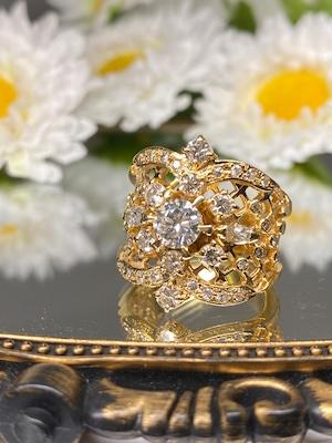 【衝撃プライスダウン!10/3まで】(日本のスペシャル豪華絢爛なヴィンテージリング)Japanese ⭐︎super gorgeous⭐︎ vintage ring