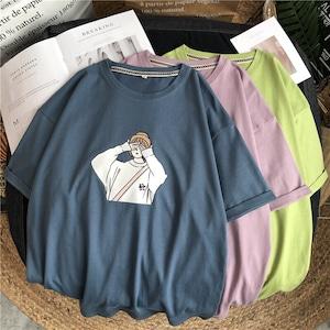 2021SS ガールプリントカラバリ半袖Tシャツ S3568
