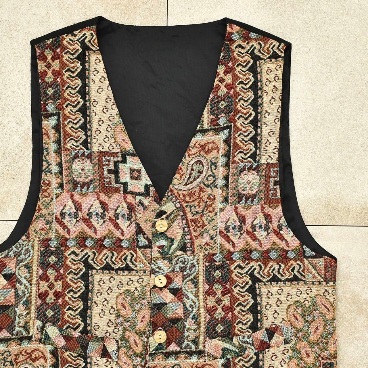 Antique pattern gobelin / tapestry vest