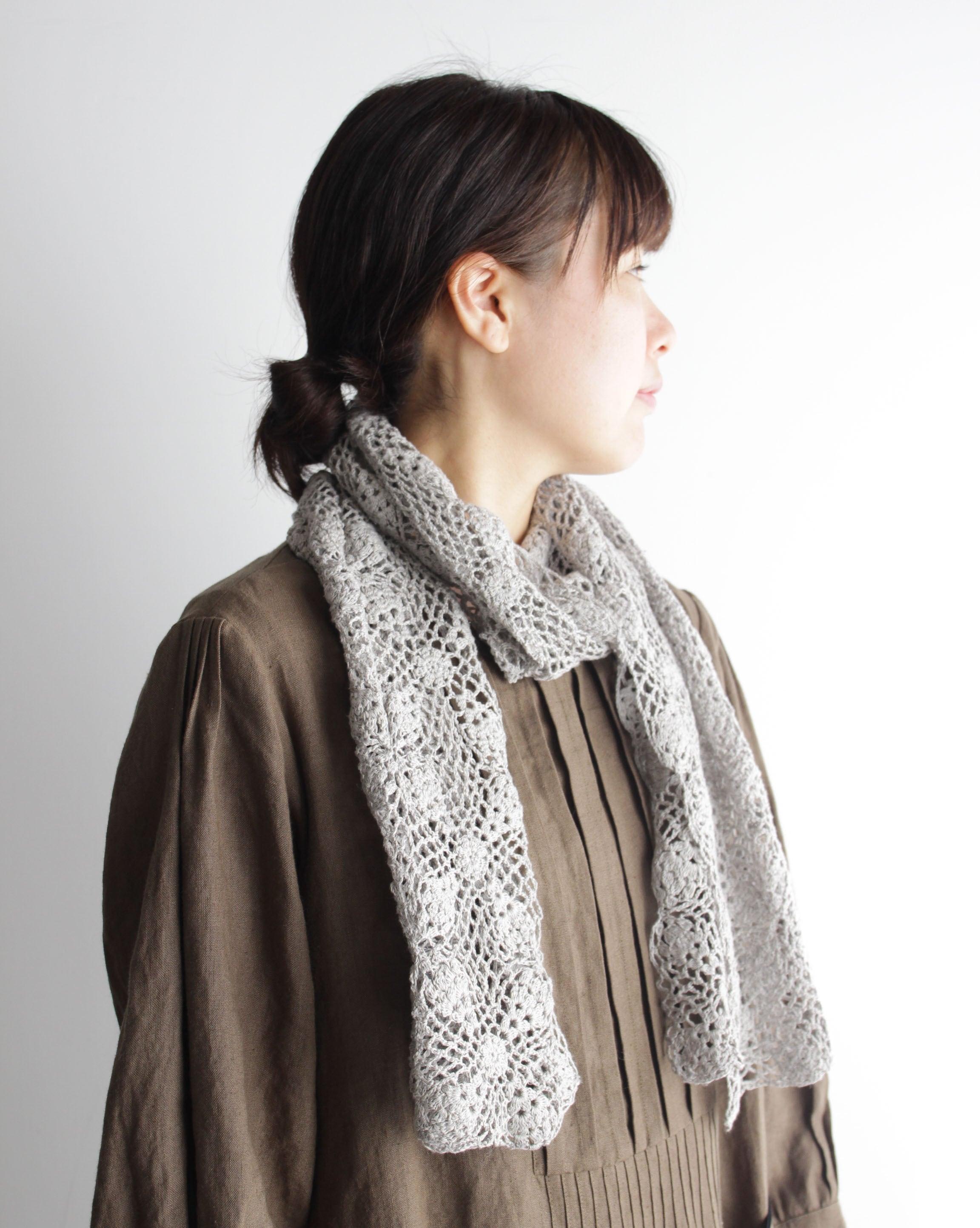 【編み物キット】モチーフつなぎのシルクリネンショール(糸:No.17)
