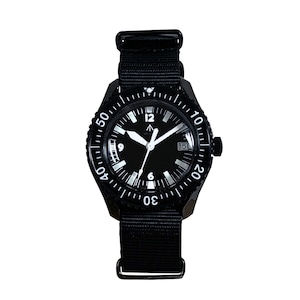 NAVAL MILITARY WATCH MIL.-05 BK/BK Automatic ROYAL Military Diver TYPE