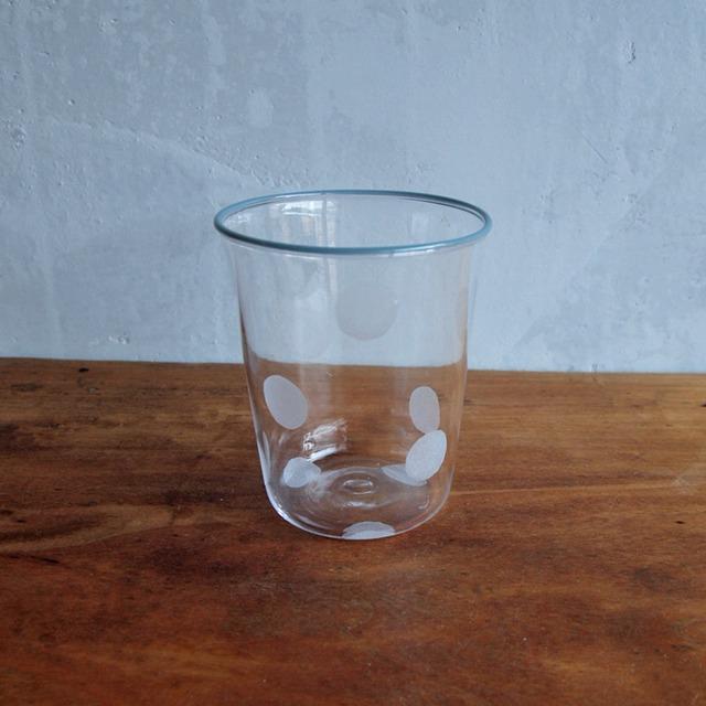 floresta fabrica|水玉グラス ブルーグレー