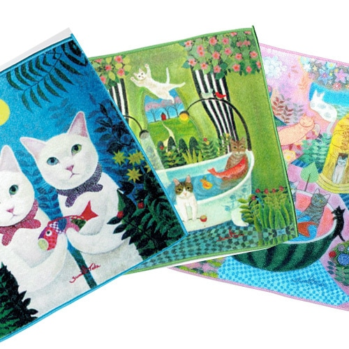 多田すみえの猫の世界 ハンドタオルコレクション