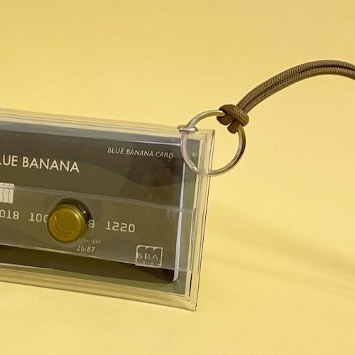 ブルーバナナIDカードケース/クリア×ピスタチオボタン