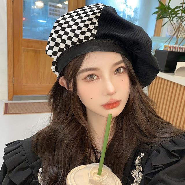【小物】ストリート系ファッションダンスチェック柄帽子53758778