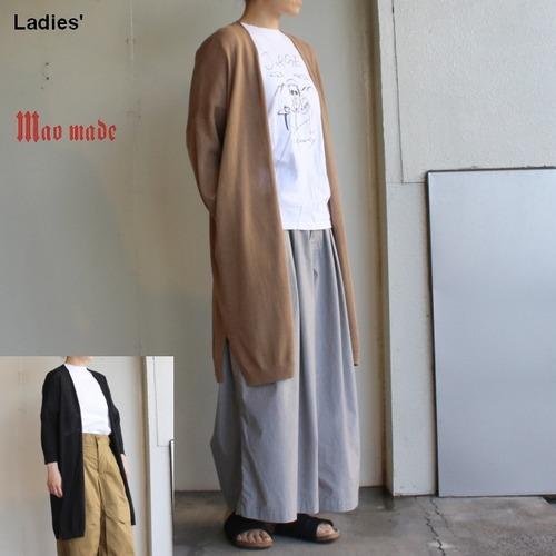maomade 8分袖コットンロングカーディガン 921121 2カラー