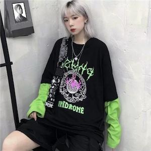 【トップス】ストリート系instagram人気プリントTシャツ42895720