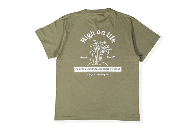 【high on life T-shirt】/ light khaki