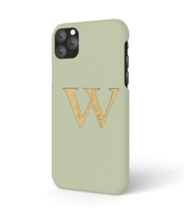 iPhone  Premium Smooth Leather Case (Sage Green)