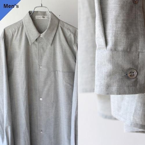 THE HINOKI ザヒノキ オーガニックコットンポプリンルーズフィットシャツ 杢グレー