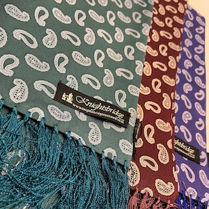 【Knightsbridge】Silk scarves (small paisley)