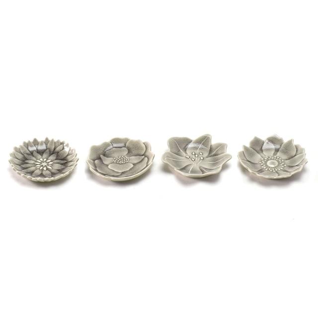 aito製作所 「形 Katachi」豆皿 4枚セット 約7.7×7.5cm はいあお 瀬戸焼 288540