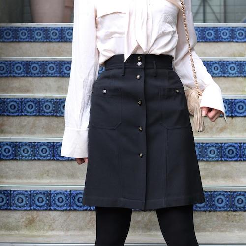 .CHANEL COCO MARC BUTTON WOOL SKIRT MADE IN FRANCE/シャネルココマークボタンウールスカート2000000056937